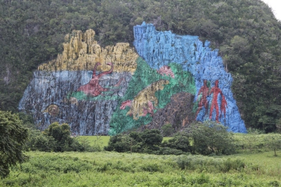 Prehistoric painting in the valley