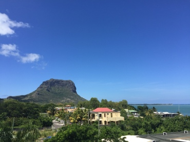 Le Morne brabant - the view from the rooftop of our apartment in La Gaulette