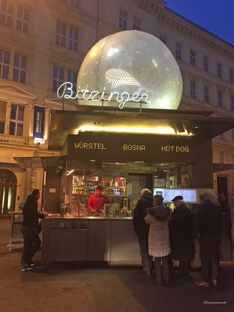 Popular food stall for opera fans