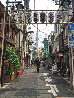 Street in an older area of Tokyo
