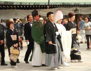 Traditional Japanese wedding at Meiji Shrine